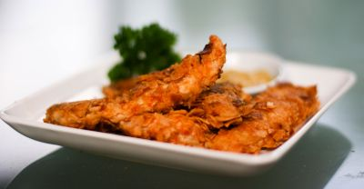 Crunchy Paleo Chicken Strips