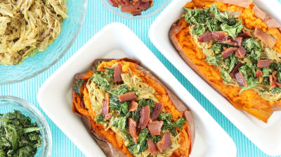 AIP Pulled Pork Loaded Sweet Potatoes