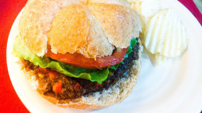 Spicy Black Bean Veggie Burgers
