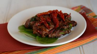 Paleo Sun-dried Tomato and Spinach Burgers