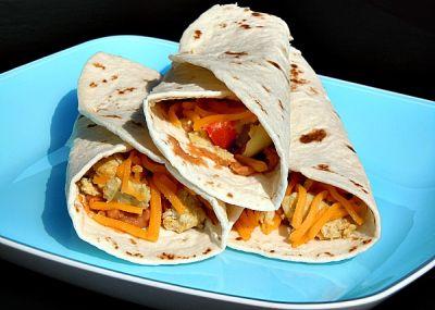 Huevos Rancheros Breakfast Burritos