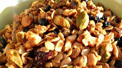 Gluten Free Dairy Free Maple Cinnamon Granola