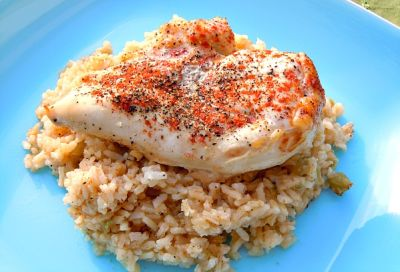 Paprika Chicken and Rice Bake-Traditional Version