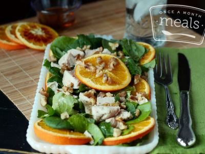 Chicken Roasted Orange Salad- Lunch Version