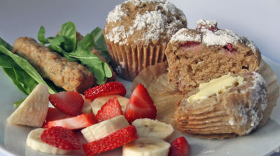 Strawberry Crumb Muffins