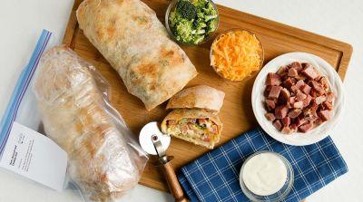 Ham, Broccoli and Cheddar Roll
