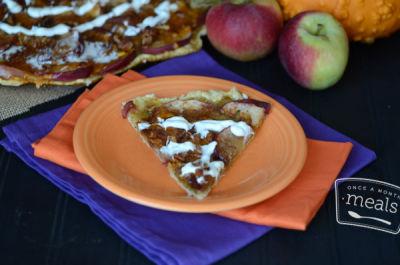 Spooky Apple Pizza