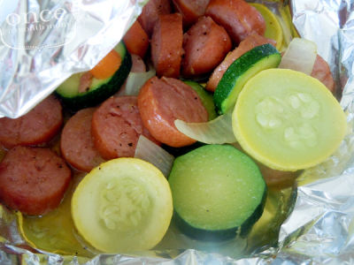 Sausage and Summer Vegetable Packets