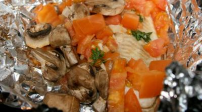 Instant Pot Tilapia with Spinach, Mushrooms, Tomatoes and Herbs