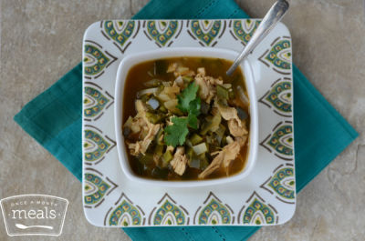 Skinny Chicken Poblano Soup