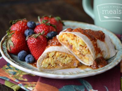 BBQ Breakfast Burrito