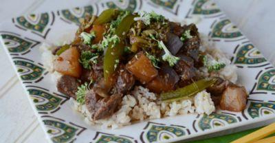 Pineapple Beef Teriyaki – Lunch Version