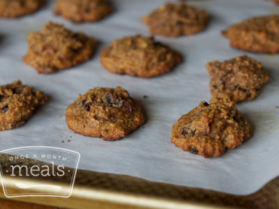 Paleo Pumpkin Cranberry Breakfast Cookies