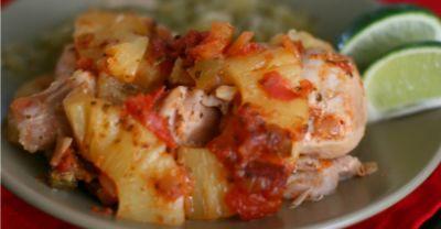 Pineapple Salsa Chicken Bake – Lunch Version
