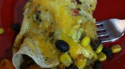 Instant Pot Sweet Potato and Black Bean Enchiladas