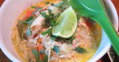 Slow Cooker Curried Coconut Chicken Soup