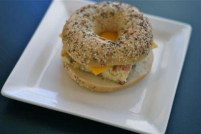 Breakfast Bagel Egg Sandwiches