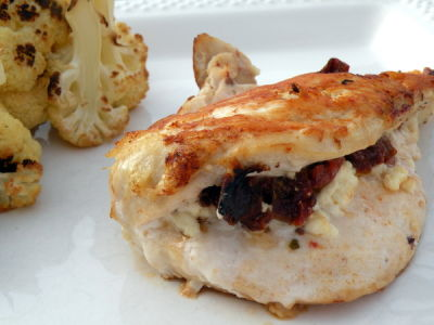 Sun-dried Tomato and Goat Cheese Stuffed Chicken