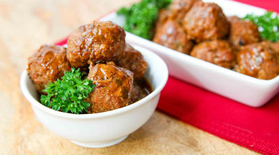 Paleo Apple Glazed Turkey Meatballs