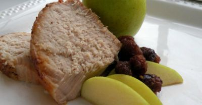 Slow Cooker Apple Cherry Pork Loin
