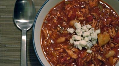 Slow Cooker Buffalo Chicken Chili- Dinner Version