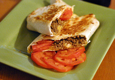 Grilled Vegetarian Cheeseburger Wraps