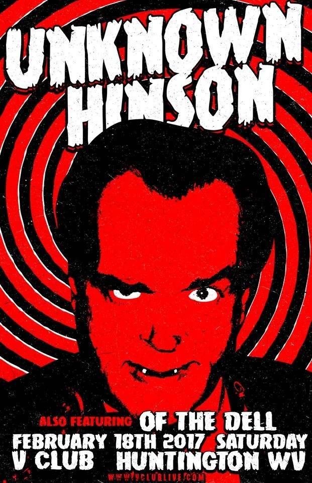 UNKNOWN HINSON Live And Undead Poster NEW