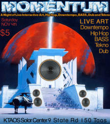 MOMENTUM: a night of Live Art, Hip Hop, Downtempo, BASS, Dub and Tekno