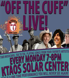 "OFF the CUFF LIVE feat. ""Joe Jackson"" as performed by Jimmy Stadler & Alan Vetter"