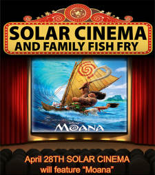 "Solar Cinema featuring ""Moana"""