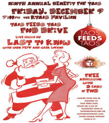 """Taos Feeds Taos Benefit Concert with Musical guest """"Last to Know"""""""