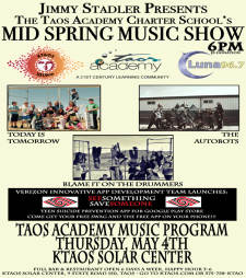 Jimmy Stadler presents Taos Academy Mid Spring Music Show!