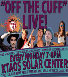 """""""Off the Cuff"""" LIVE feat. music of """"Duets"""" as performed by Bob Andrews & Mina Tank"""