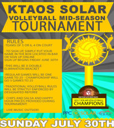 KTAOS Solar Volleyball League Mid-Season Tournament