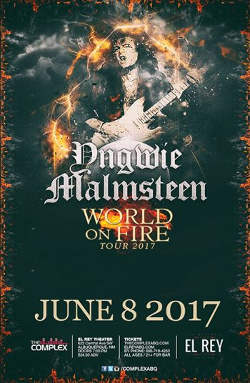 YNGWIE MALMSTEEN Albuquerque @ The Historic El Rey Theater