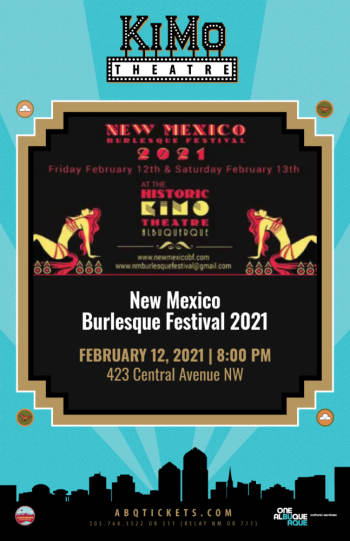 New Mexico Burlesque Festival 2021 - February 12, 2021, 8:00 pm