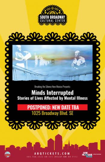 Minds Interrupted:  Postponed - April 29, 2020, 7:00 pm