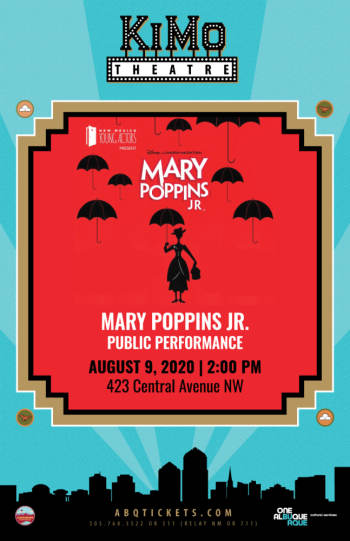 Mary Poppins Jr. - Public Performance -Postponed (New Date 8-9-2020) - August 9, 2020, 2:00 pm