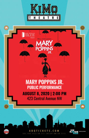 Mary Poppins Jr. - Public Performance - Posponed (New Date 8-8-2020) - August 8, 2020, 2:00 pm