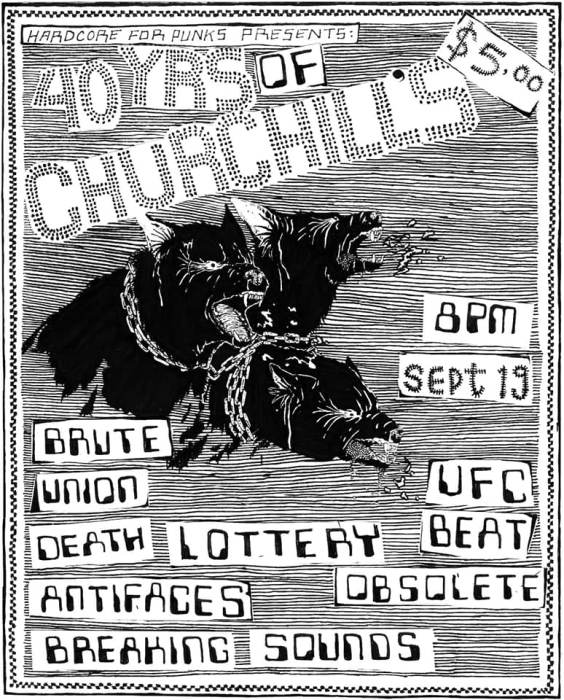 Hardcore For Punx presents 40 YEARS OF CHURCHILL
