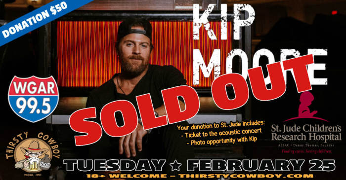 Kip Moore - SOLD OUT