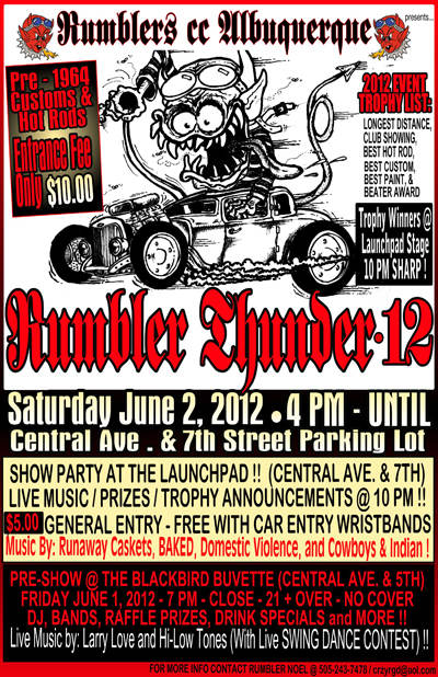 Launchpad - ** Rumbler Car Show ** Cowboys and Indian * Domestic
