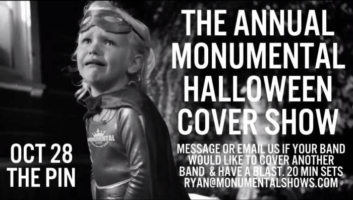 the annual monumental halloween cover show the pin spokane wa october 28th 2016 630 pm