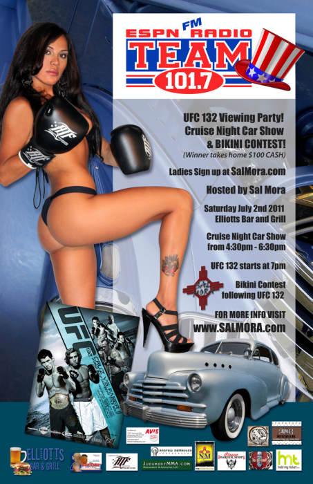 UFC 132 Viewing Party, Cruise Night Carshow & Bikini Contest