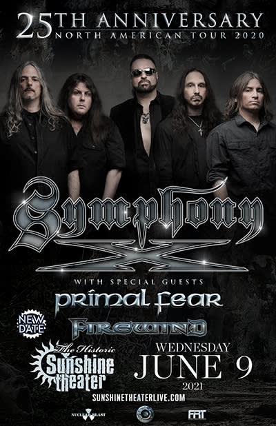 Symphony X 25th Anniversary Tour - NEW DATE