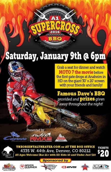 The Oriental Theater - 2016 A1 Supercross BBQ