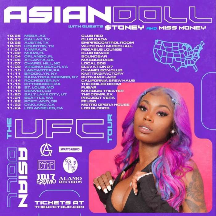 Asian Doll with special guests Stevie B & $toney
