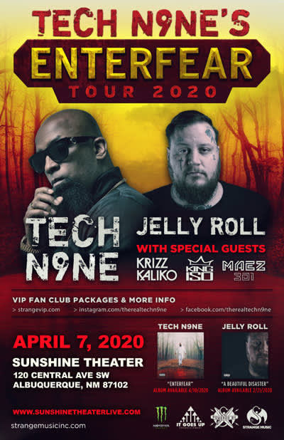 TECH N9NES ENTERFEAR TOUR 2020