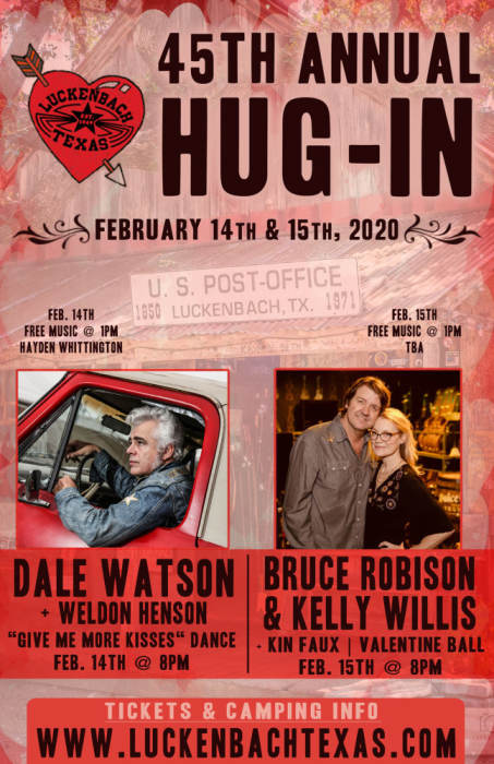 Fredericksburg Events February 2020.45th Annual Hug In Valentine Ball W Bruce Robison And Luckenbach Texas Fredericksburg Tx February 15th 2020 8 00 Pm
