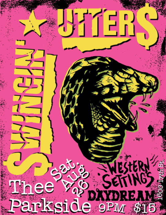 Swingin' Utters, Western Settings, Daydream @ Thee Parkside San Francisco,  CA - August 26th 2017 9:00 pm